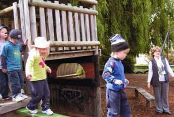 children in the playground,image © Possums Playcentre