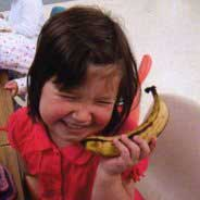 girl with a banana,image © Possums Playcentre